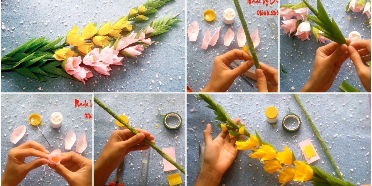 How to make gladiolus paper flowers