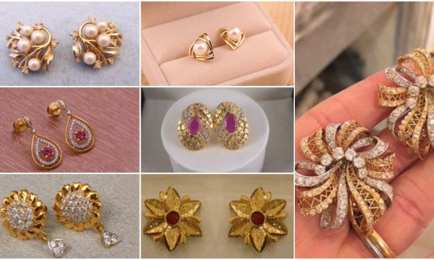 Top stunning light weight gold stud earrings