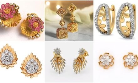 Latest daily wear gold stud earring designs