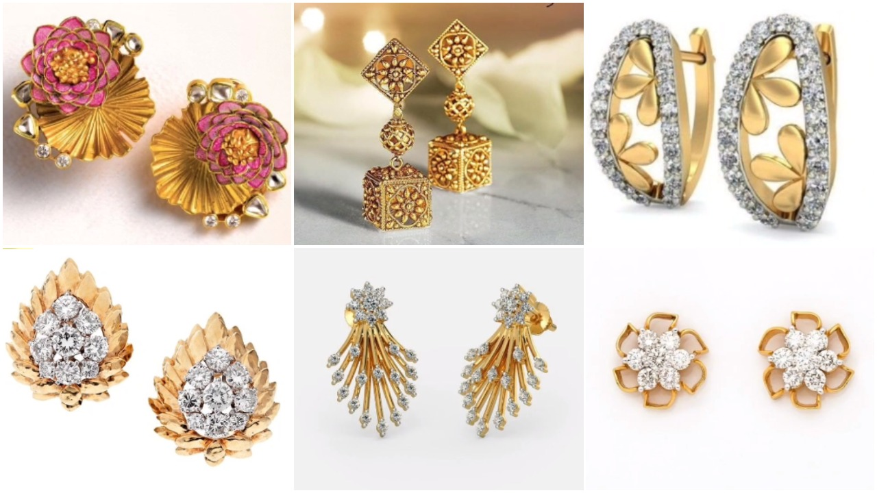 gold stud earring designs