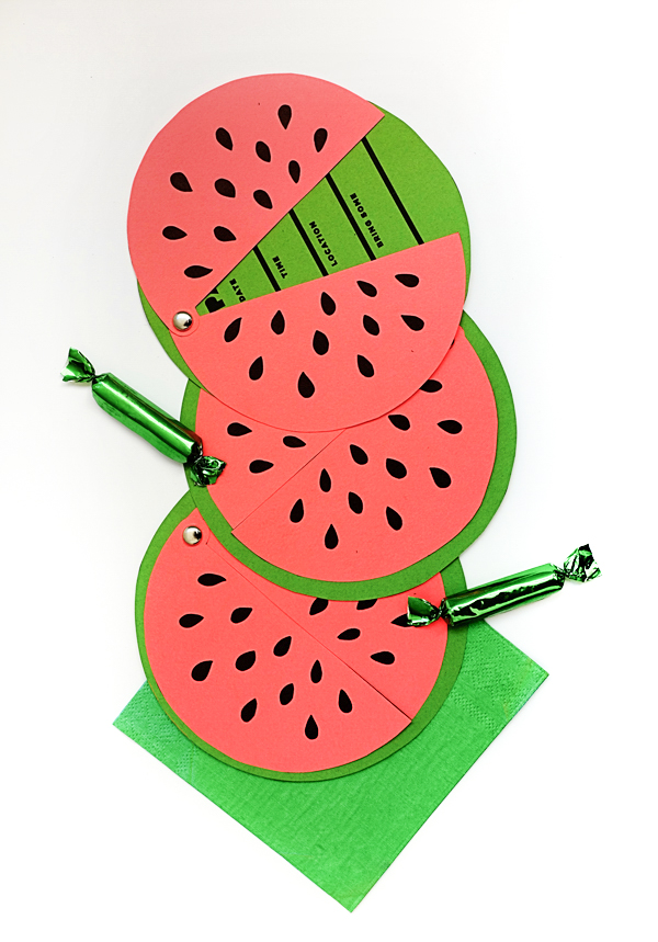 Printable Watermelon Invites