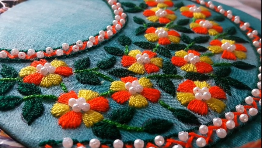 Round Neck Embroidery