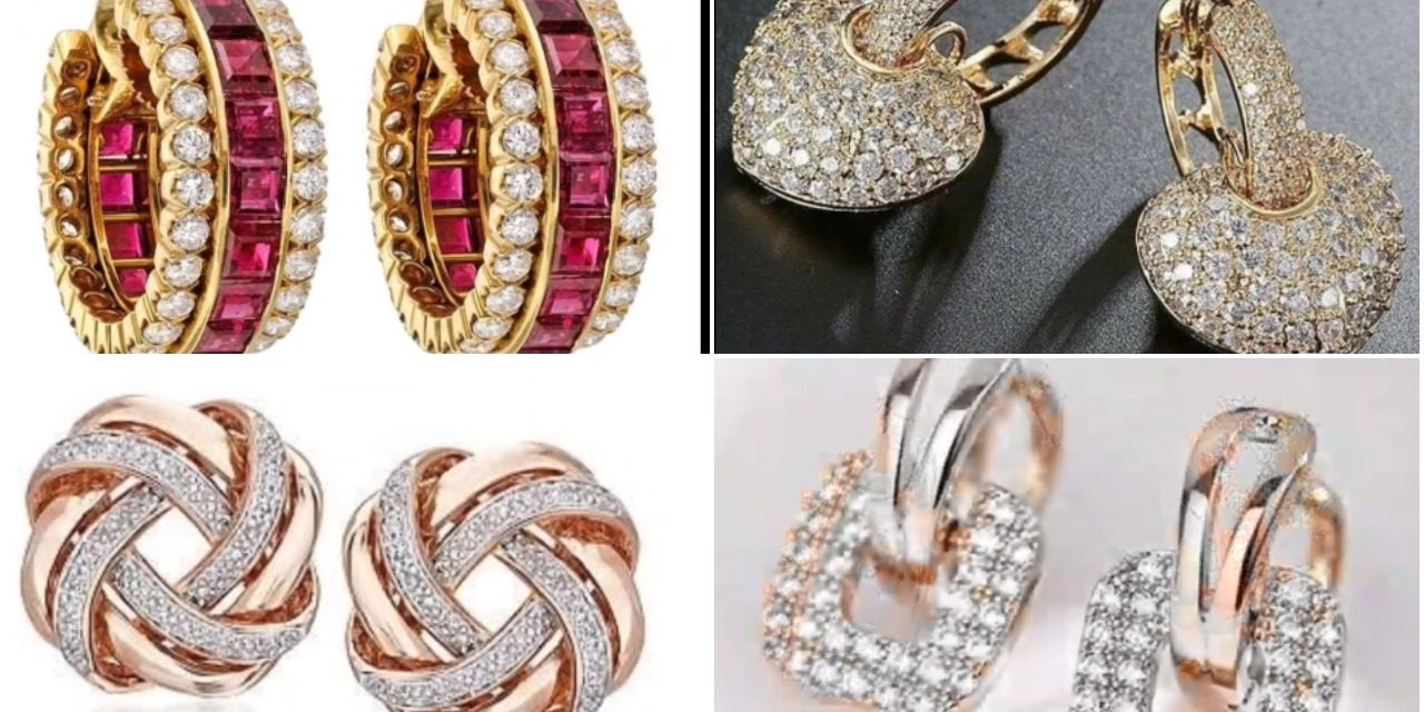 Latest and classy gold hoop earrings designs