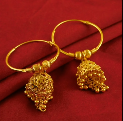 Trendy Gold Hoops