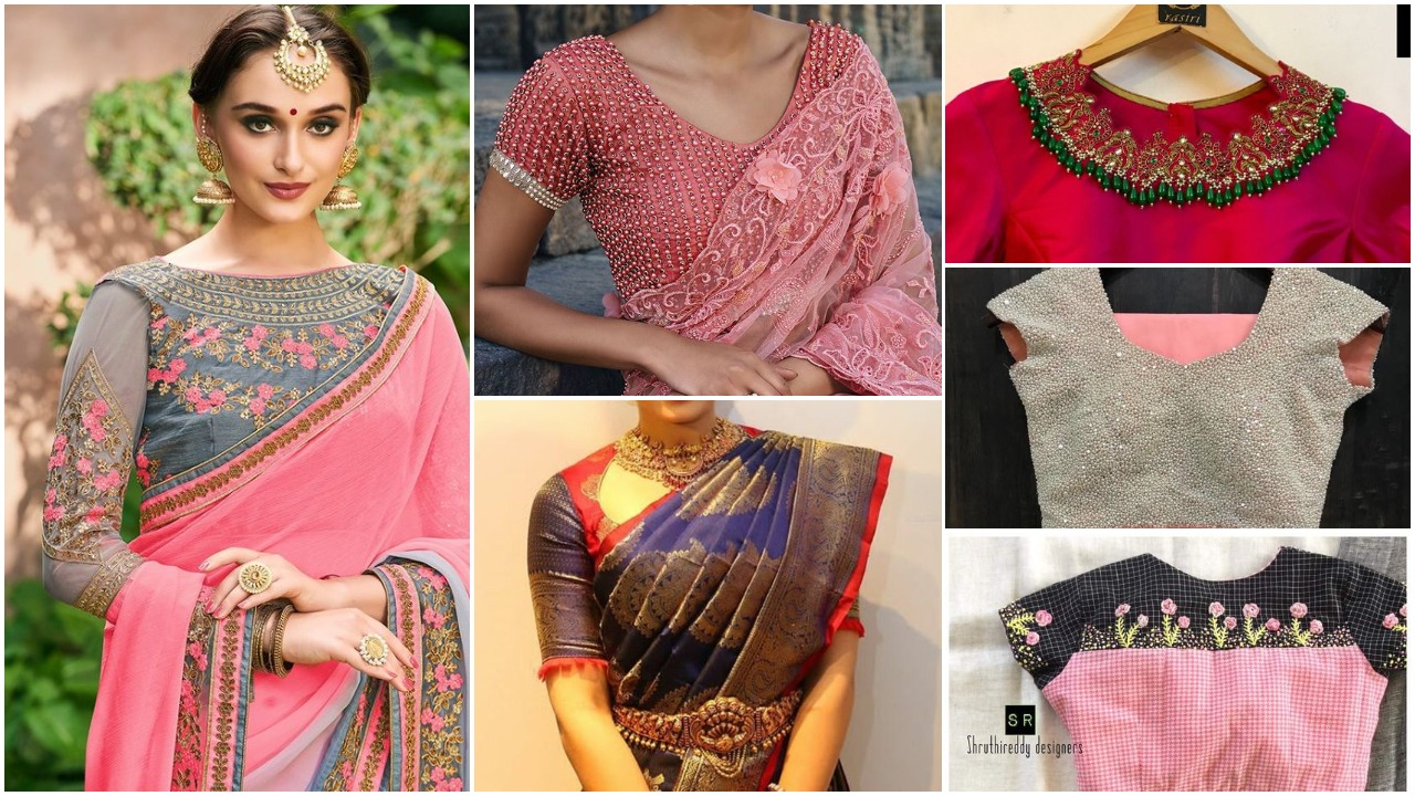 Trendy saree blouse designs