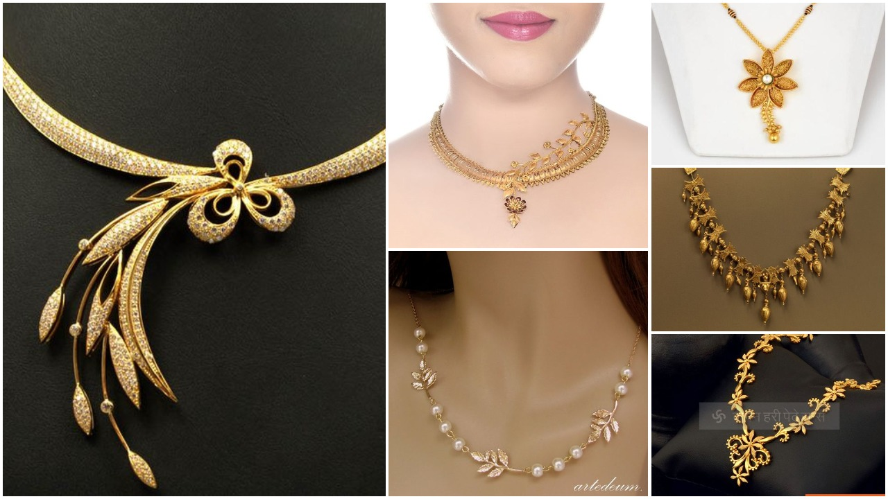 Elegant gold necklace