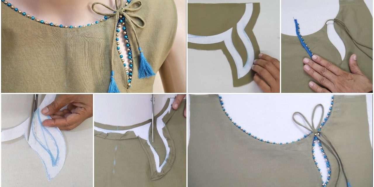 Stylish and easy neck design cutting and stitching