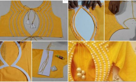 How to make boat neck design for blouse