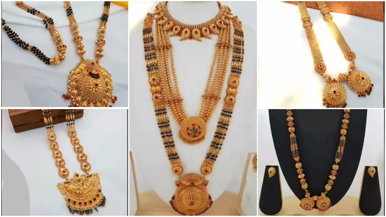 Gold Long Mangalsutra Designs Simple Craft Ideas,T Shirt Design Photoshop Size