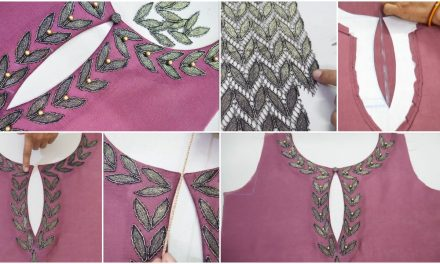 Very creative back neck design for blouse