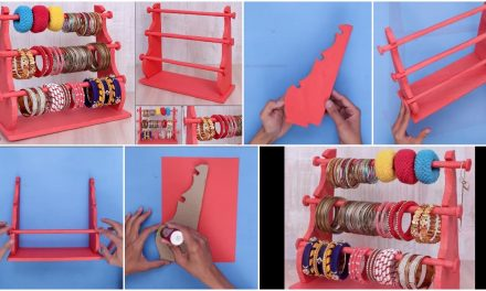 How to make bangle stand at home
