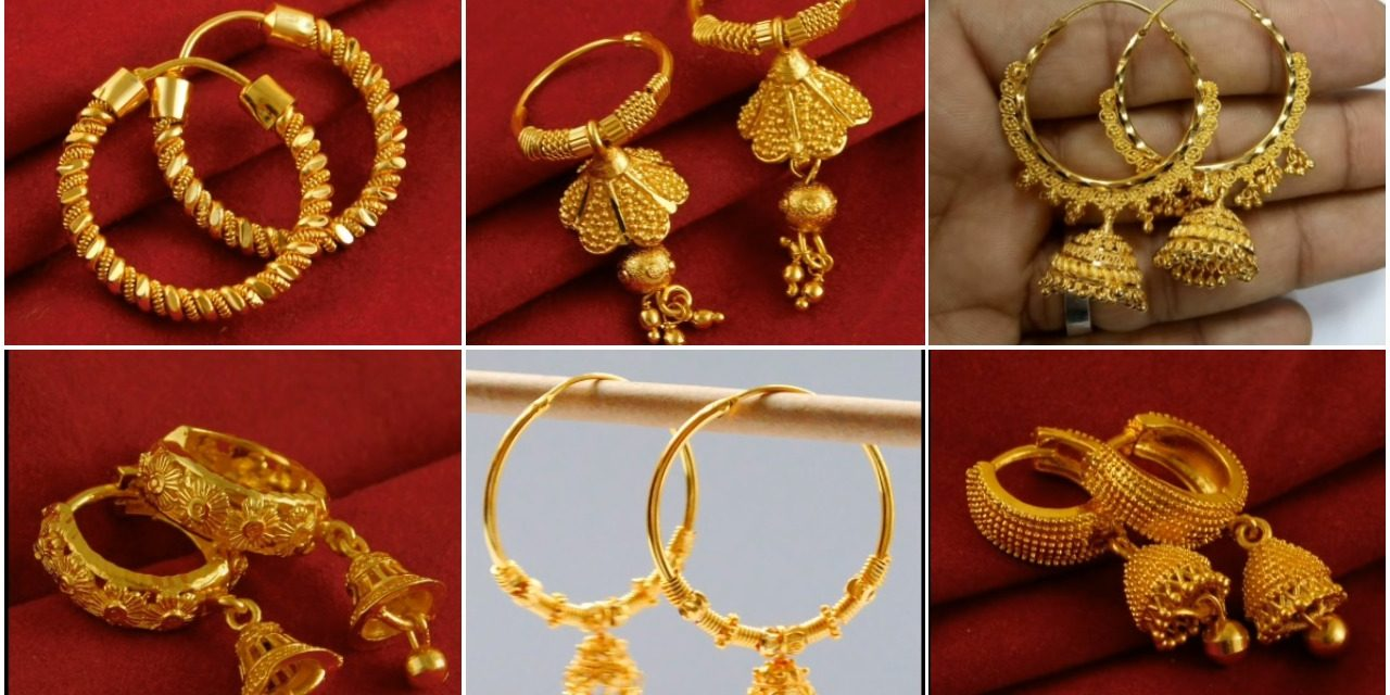 New trendy gold hoops and drop