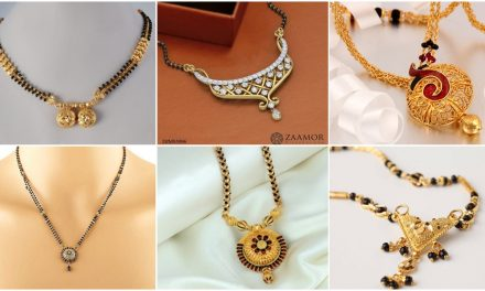Latest beautiful gold long mangalsutra design