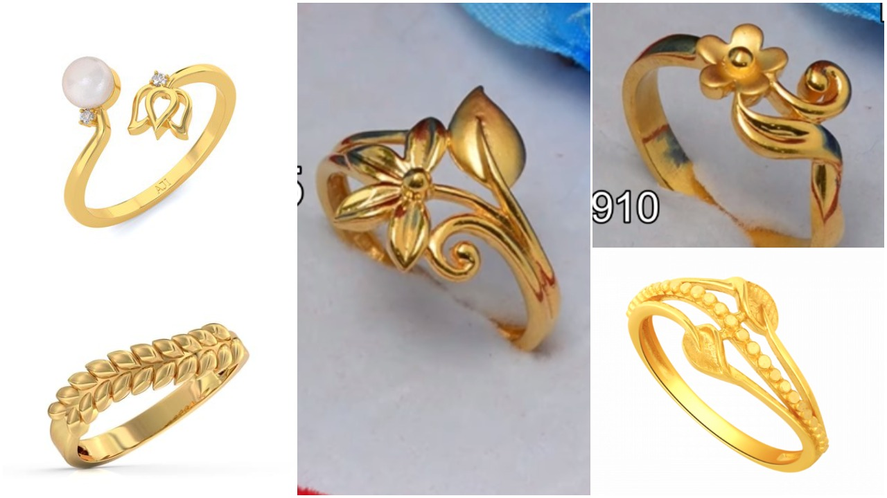 Gold ring design for woman