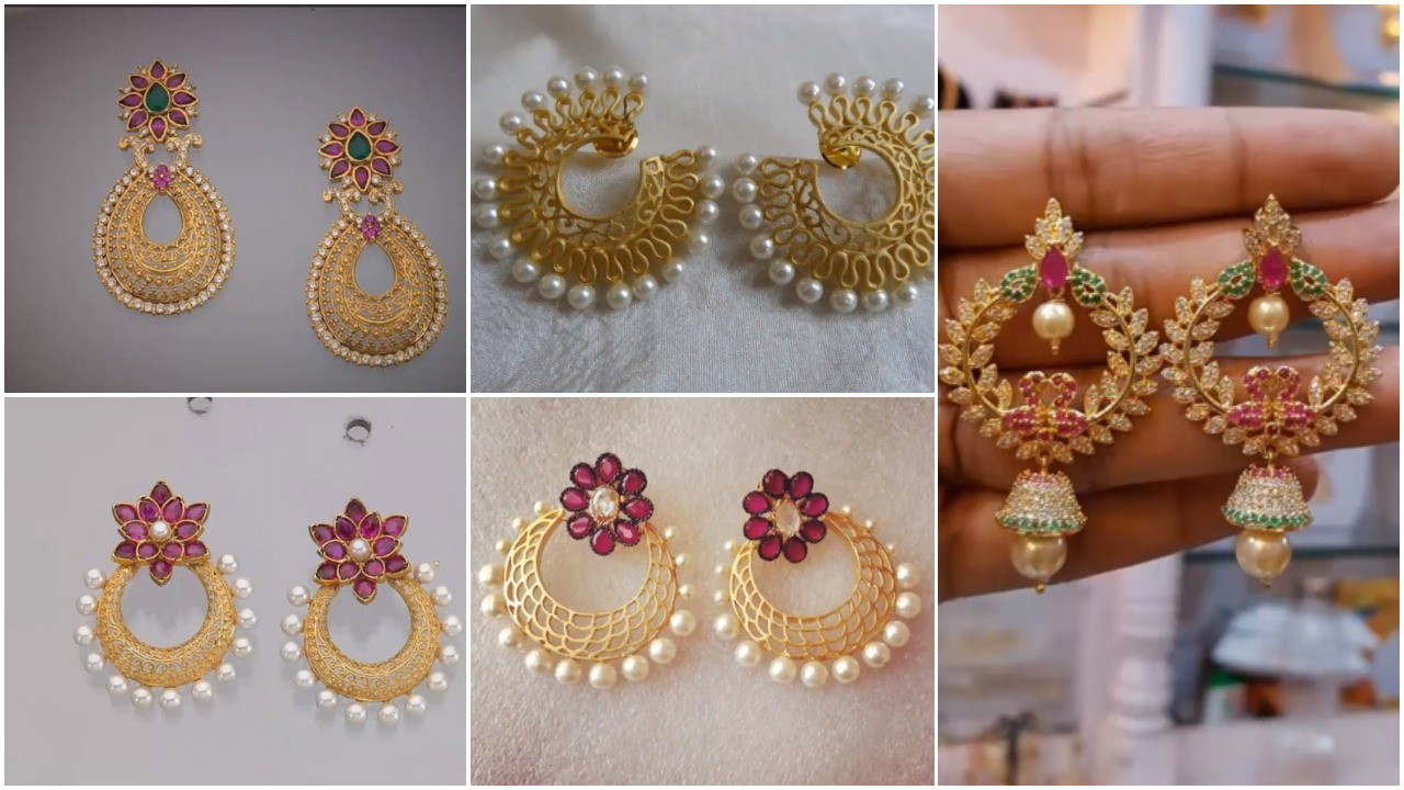 Latest gold earrings designs