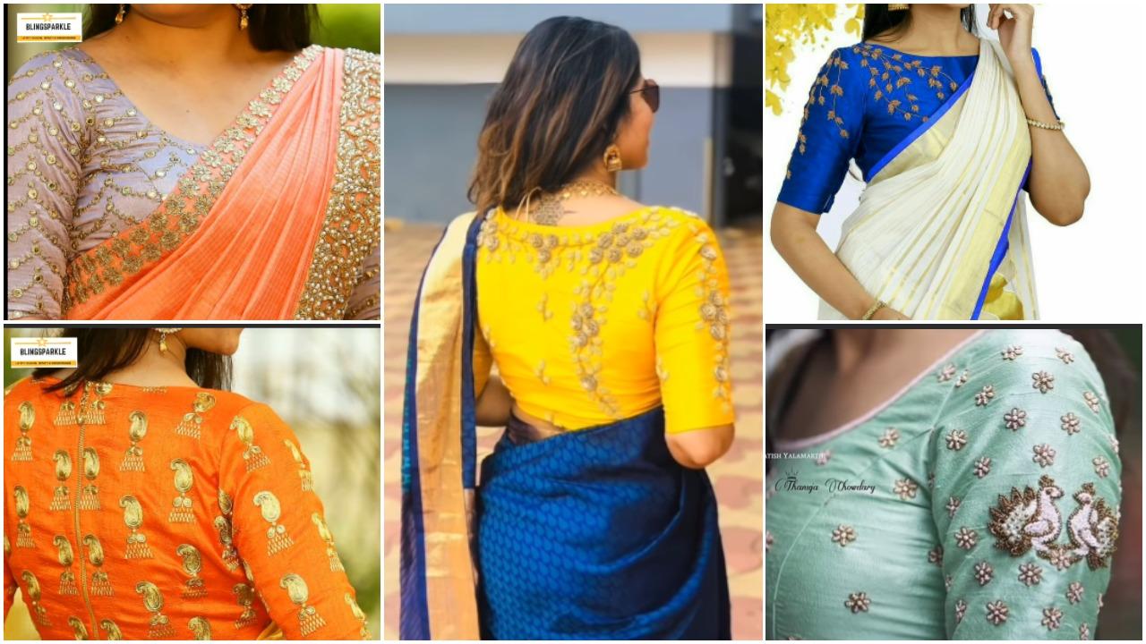 Latest magam work blouse design