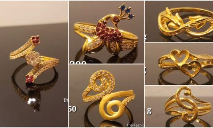 Latest light weight gold ring design
