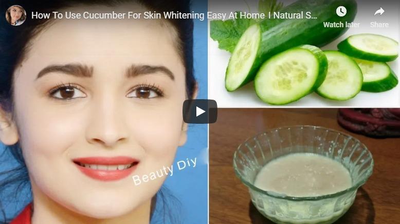 cucumber for skin whitening
