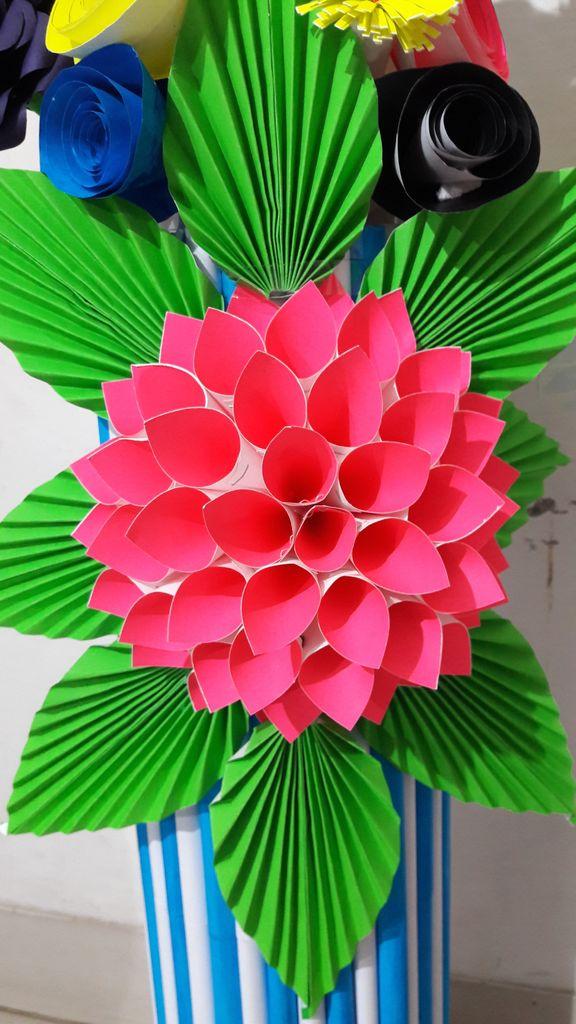 Paper Flower Vase