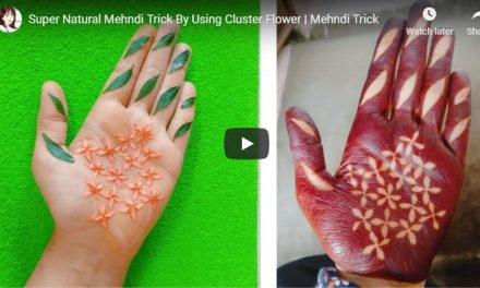 Super natural mehndi trick by using cluster flower