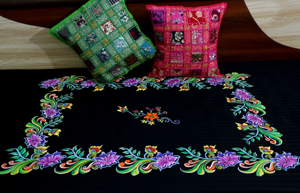 Hand Painted Bed Sheet