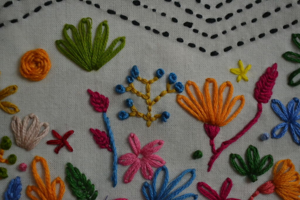 Rainbow Forest Embroidery