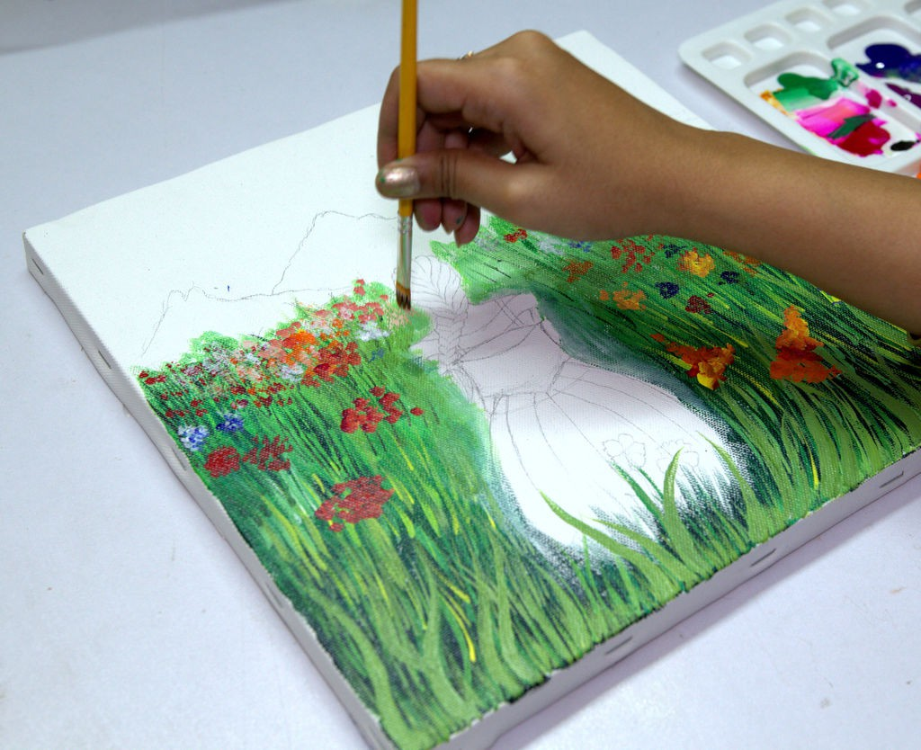 3D GARDEN CANVAS ART