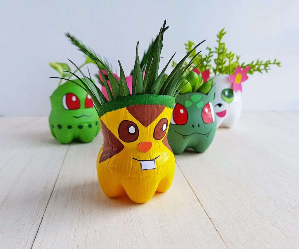 Recycled Pokemon Planters