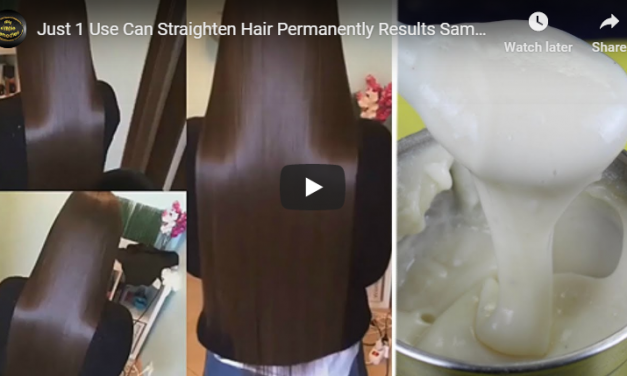 Just 1 use can straighten hair permanently
