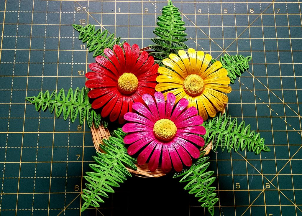 QUILLED FLOWER BASKET
