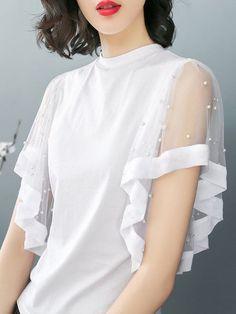 Stylish and fashionable kurti neck 11