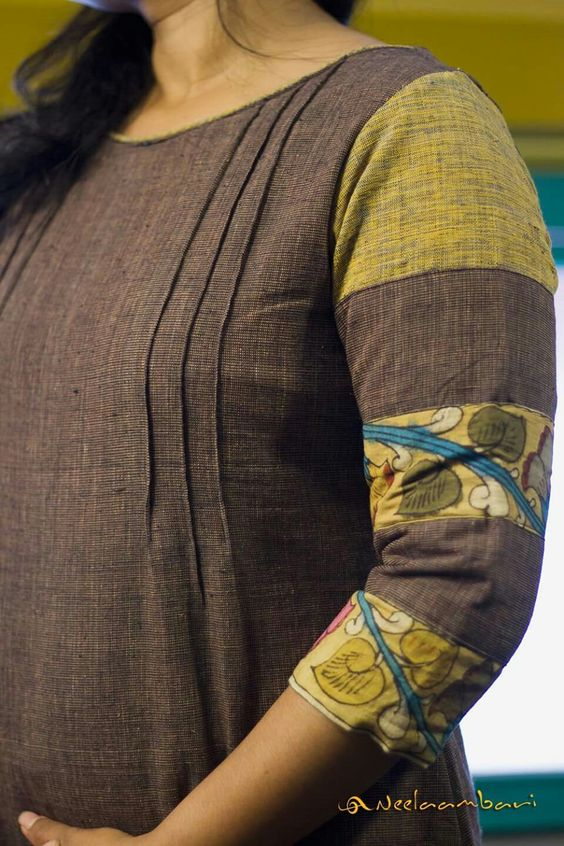 Stylish and fashionable kurti neck 14