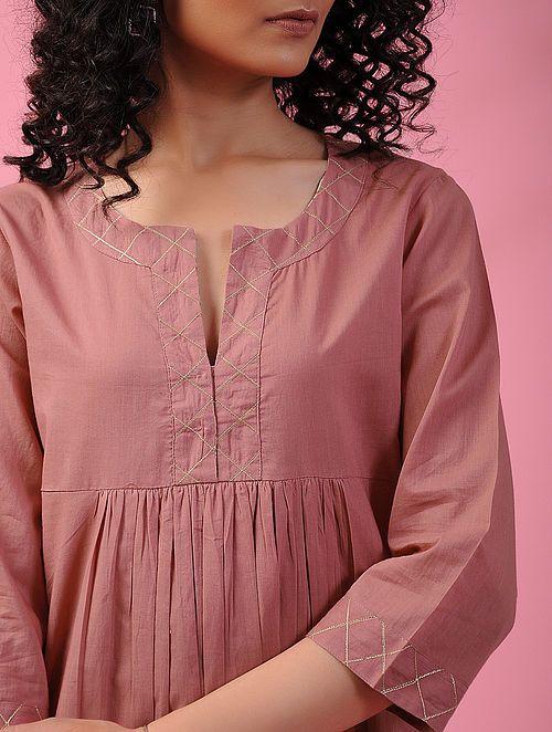 Stylish and fashionable kurti neck 16