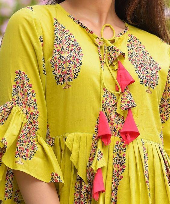 Stylish and fashionable kurti neck 2