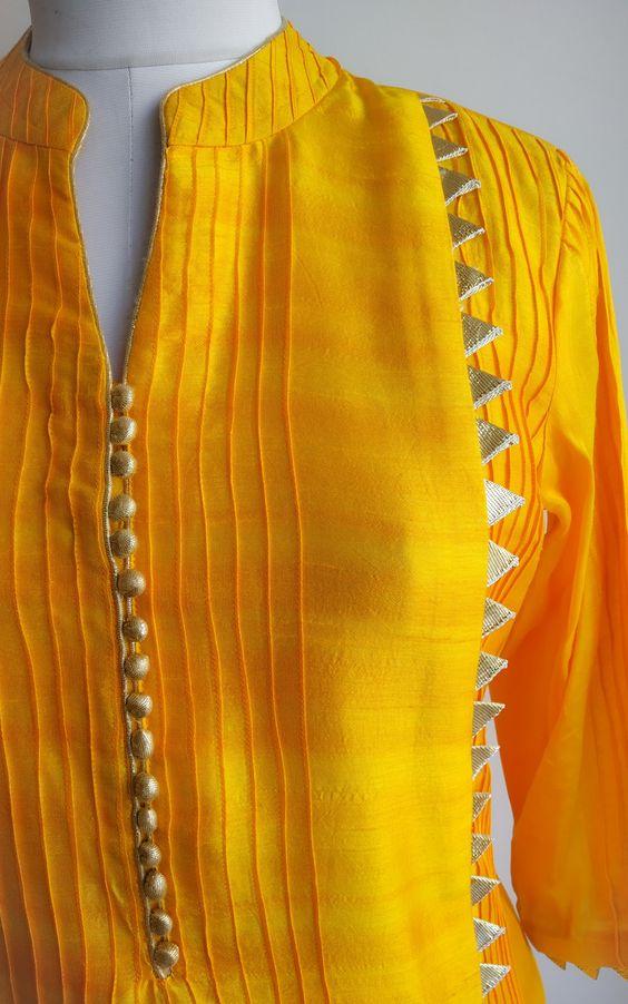 Stylish and fashionable kurti neck 3