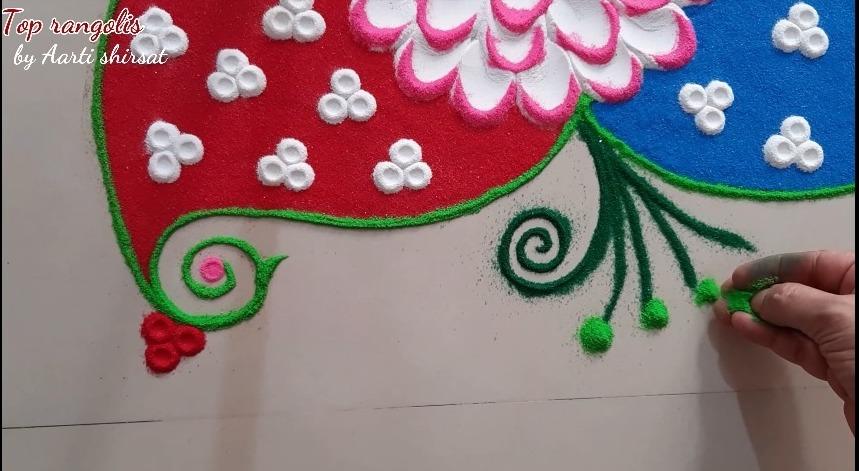 rangoli shading flower