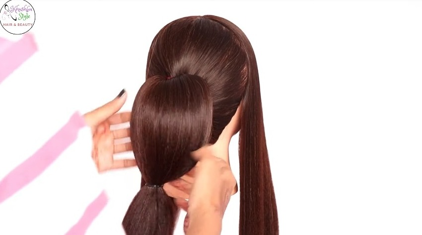 hairstyle with using clutcher