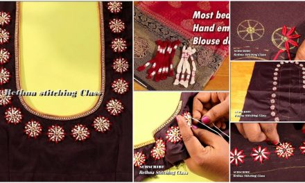 Most beautiful hand embroidery blouse design