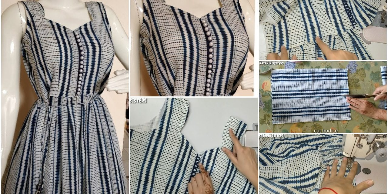 Trending front cut kurti for jeans cutting and stitching