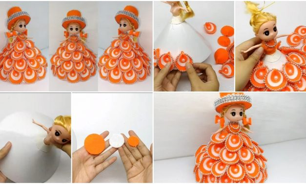 How to decorate dolls using flannel