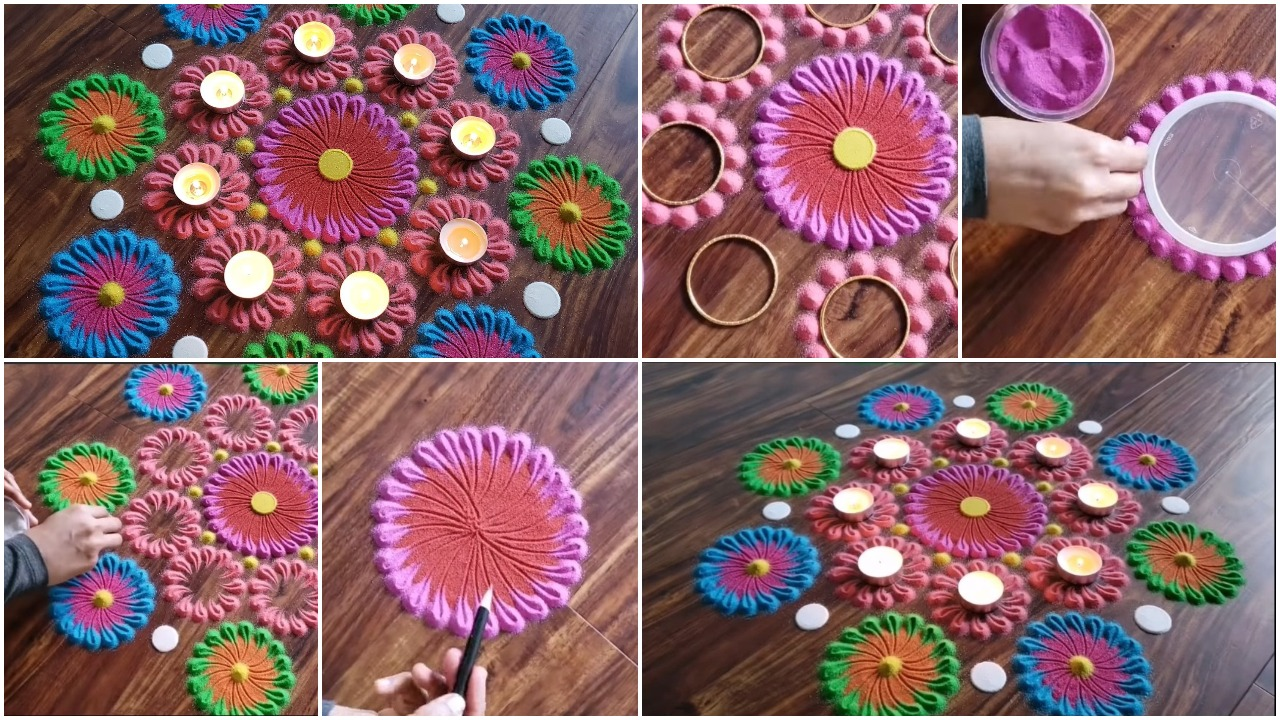 colourful rangoli design