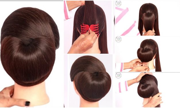 Very easy hairstyle with using clutcher