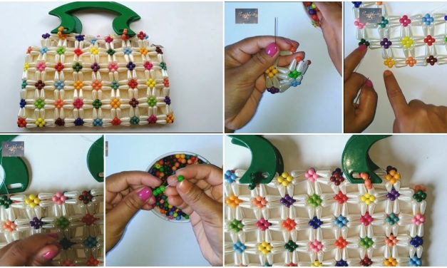 How to make crystal beaded purse