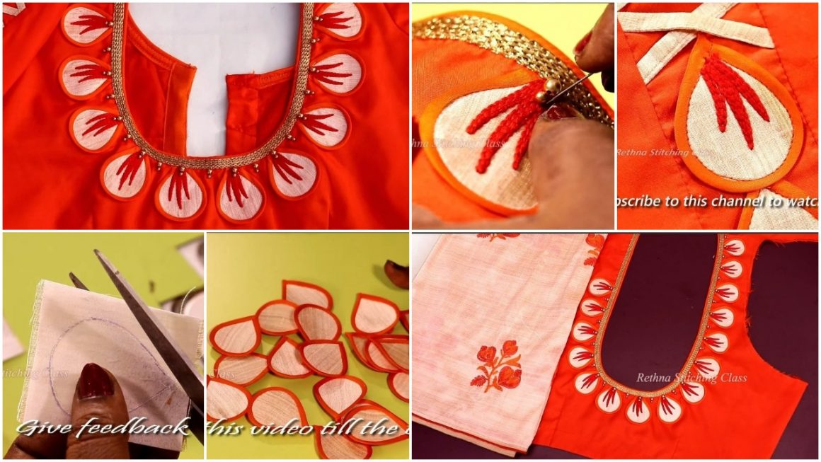 Embroidery Blouse Design In A Normal Machine Simple Craft Ideas