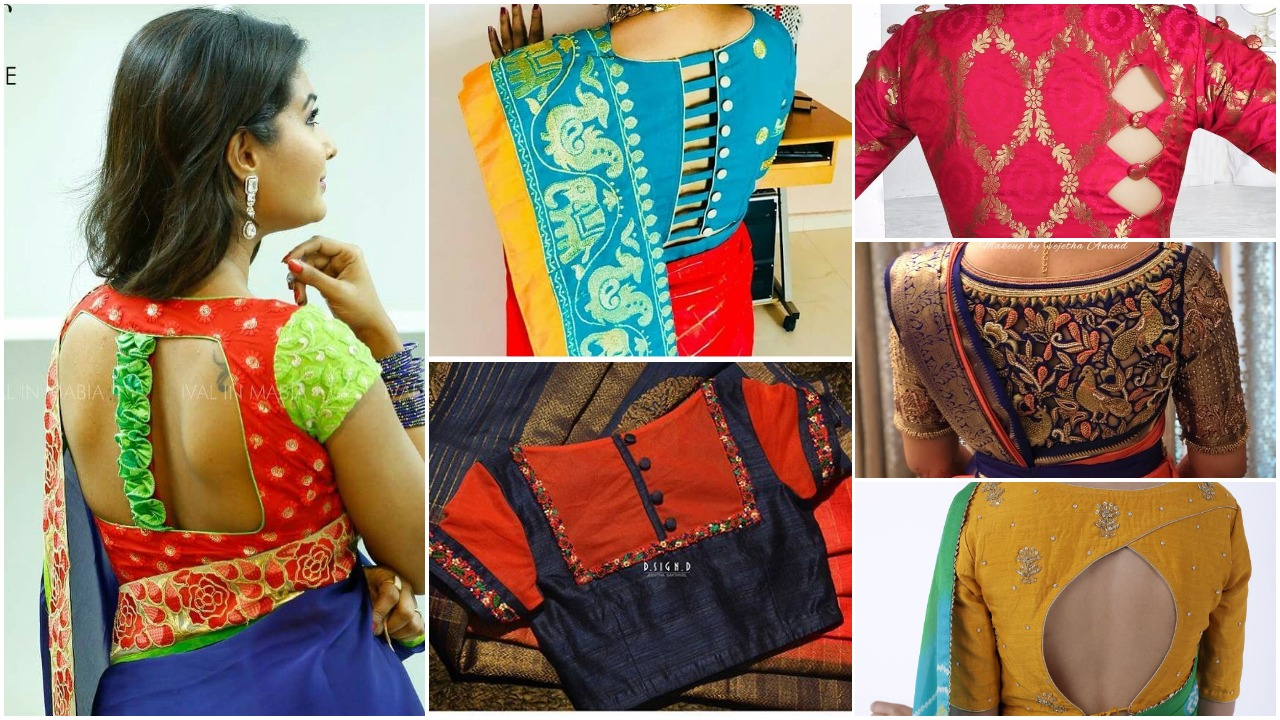 Trendy and stylish blouse design