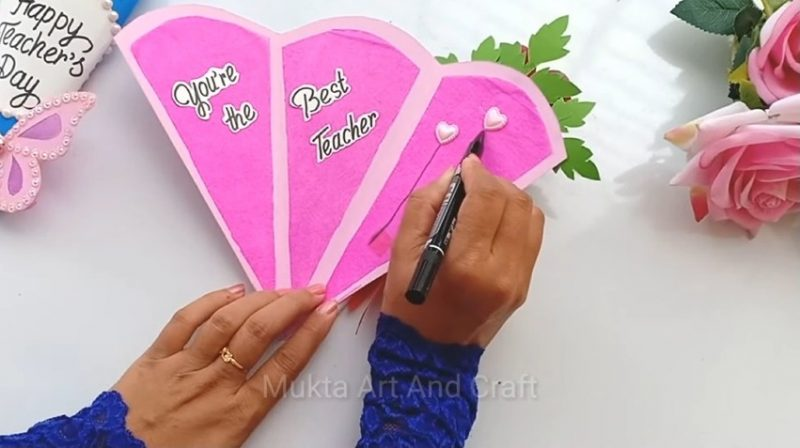 DIY Teacher's Day Pen gift card