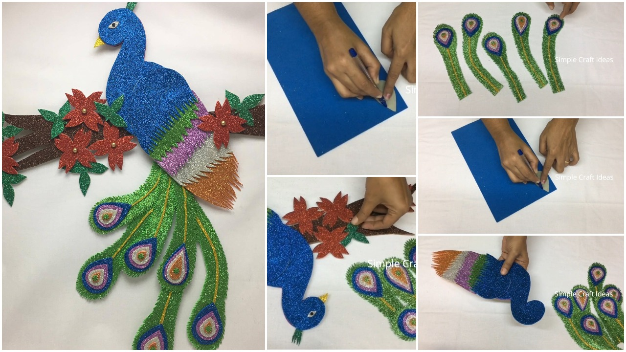 peacock wall hanging craft ideas