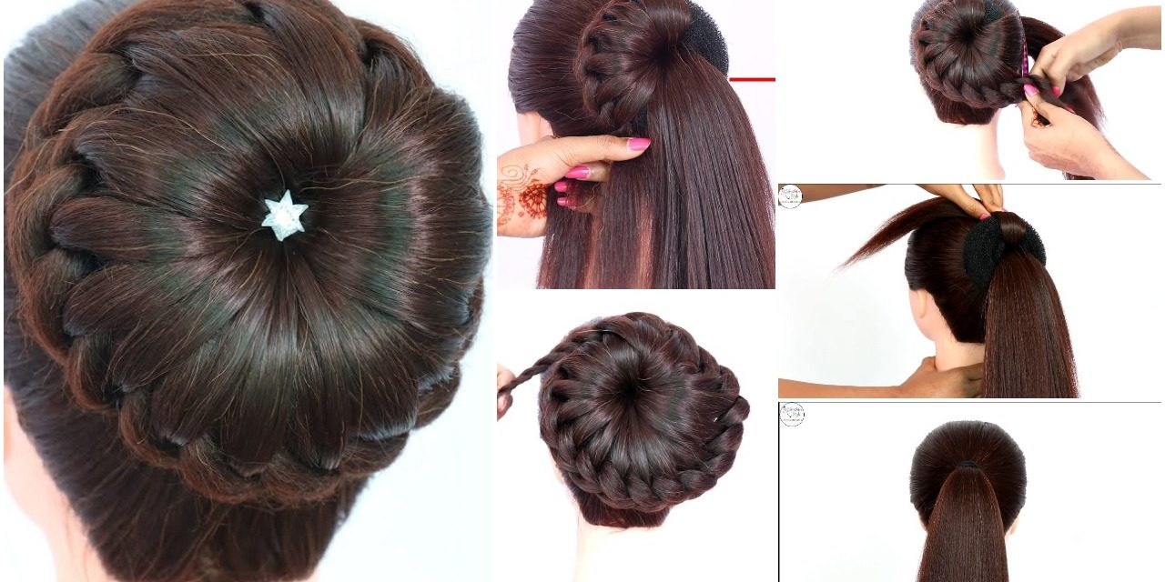 New bun hairstyle for wedding and party