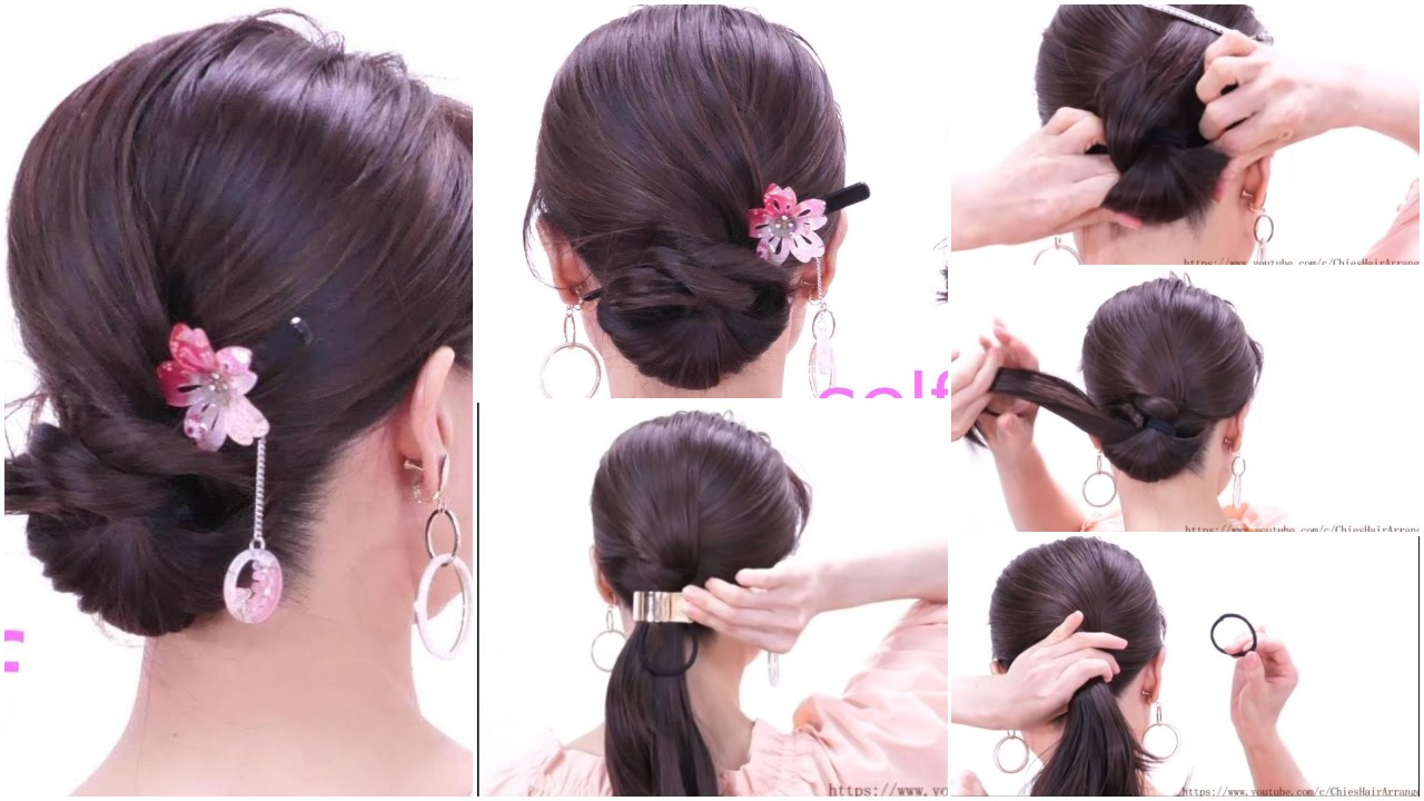 quick hair arrangement