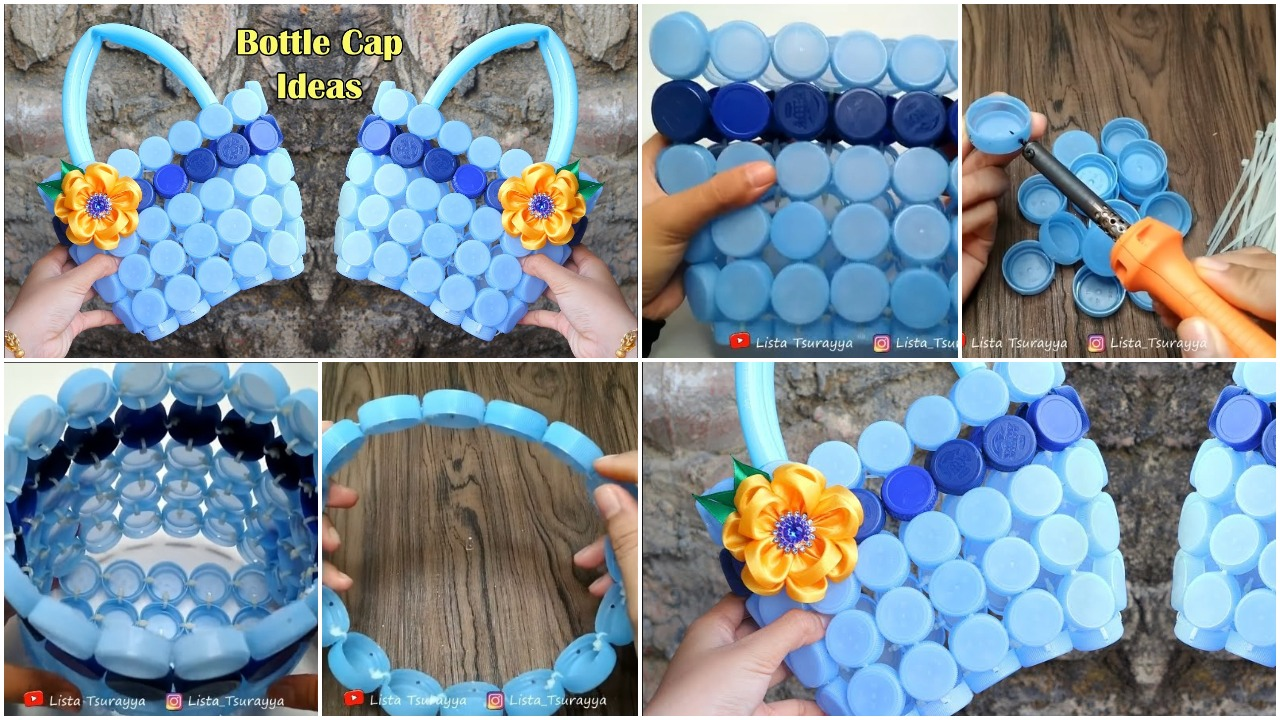handbag from plastic bottle cap